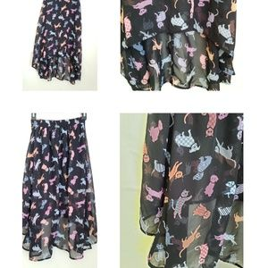 D-Signed by Disney Girls Cat n Dog High/Low Skirt